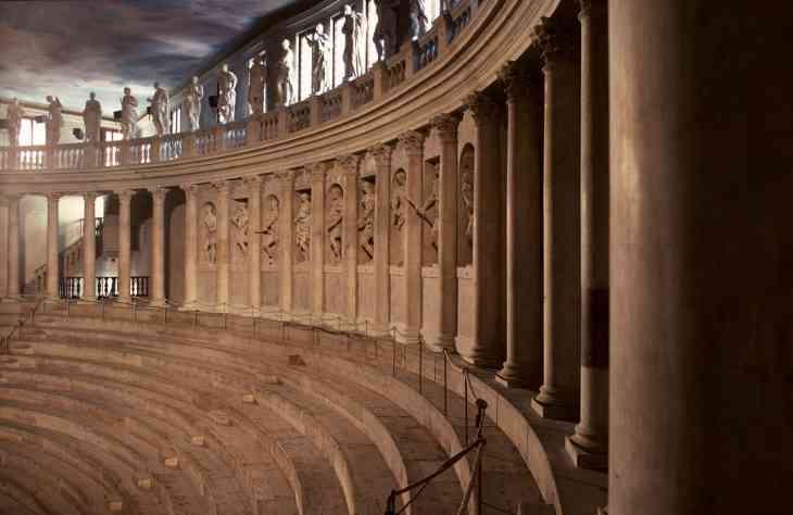 Palladio_Vicenza_Teatro Olimpico_Innenaufnahme, Zuschauerbereich_1_01