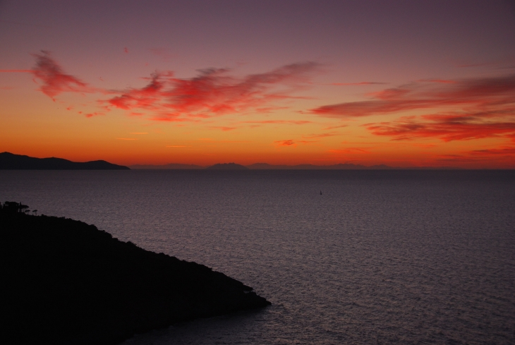 Monte Argentario, sunset at the west coast